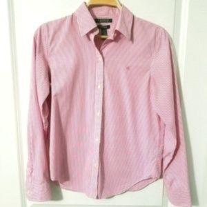 Lauren Ralph Lauren Pink Striped Button Down